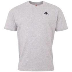 textil Herr T-shirts Kappa Veer Tshirt Gråa
