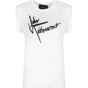 textil Dam T-shirts John Richmond  Vit