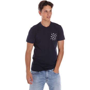textil Herr T-shirts Key Up 2S431 0001 Blå