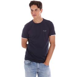 textil Herr T-shirts Key Up 2S420 0001 Blå