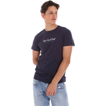 textil Herr T-shirts Key Up 2S438 0001 Blå