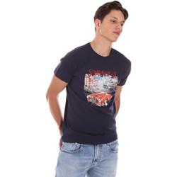 textil Herr T-shirts Key Up 2S427 0001 Blå