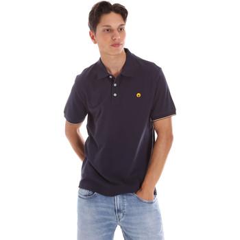 textil Herr Kortärmade pikétröjor Ciesse Piumini 215CPMT21424 C0530X Blå
