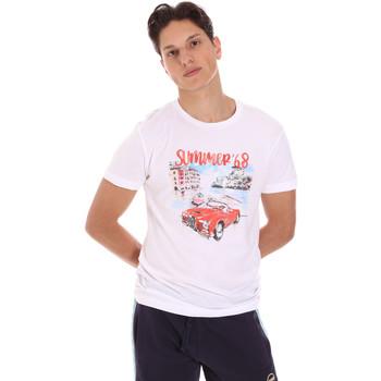 textil Herr T-shirts Key Up 2S427 0001 Vit
