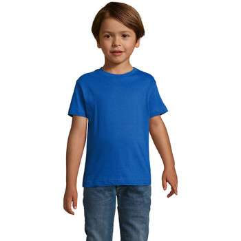 textil Pojkar T-shirts Sols REGENT FIT CAMISETA MANGA CORTA Azul