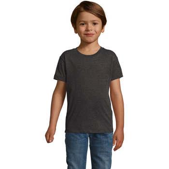 textil Pojkar T-shirts Sols REGENT FIT CAMISETA MANGA CORTA Gris