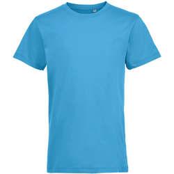 textil Barn T-shirts Sols REGENT FIT CAMISETA MANGA CORTA Azul