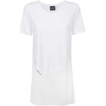 textil Dam T-shirts Ea7 Emporio Armani 3KTT36 TJ4PZ Vit