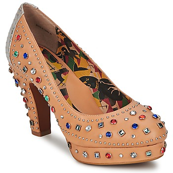 Skor Dam Pumps Miss L'Fire SHOWGIRL Beige
