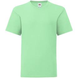 textil Barn T-shirts Fruit Of The Loom 61023 Mintgrön