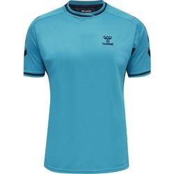 textil T-shirts Hummel Maillot  Poly hmlACTION bleu/bleu marine