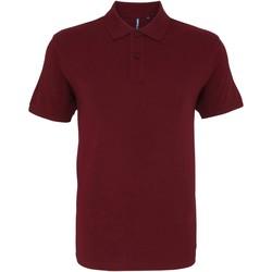 textil Herr Kortärmade pikétröjor Asquith & Fox AQ082 Bourgogne