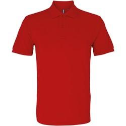 textil Herr Kortärmade pikétröjor Asquith & Fox AQ082 Körsbärsröd