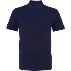 textil Herr Kortärmade pikétröjor Asquith & Fox AQ082 Marinblått