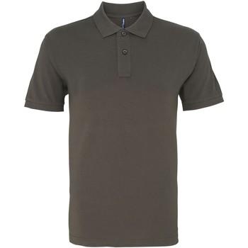 textil Herr Kortärmade pikétröjor Asquith & Fox AQ082 Skiffer