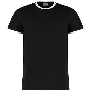 textil Herr T-shirts Kustom Kit KK508 Svart/vit