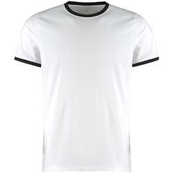 textil Herr T-shirts Kustom Kit KK508 Vit/Svart
