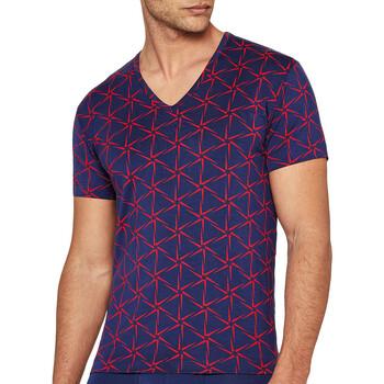 textil Herr T-shirts I Am What I Wear 1300J87 K72 Blå