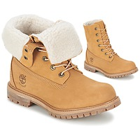 Skor Dam Boots Timberland AUTHENTICS TEDDY FLEECE WP FOLD DOWN Cognac / Ljus