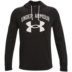 textil Herr Sweatshirts Under Armour Rival Terry Big Logo Hoodie Svarta