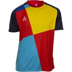 textil Pojkar T-shirts Select T-shirt enfant  Player Pop Art bleu/jaune/rouge