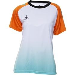 textil Dam T-shirts Select T-shirt femme  Player Femina orange/blanc/vert