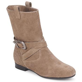 Skor Dam Boots Couleur Pourpre TAMA Mullvadsfärgad