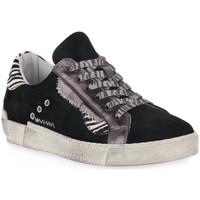 Skor Dam Sneakers At Go GO 4102 VELOUR NERO Nero