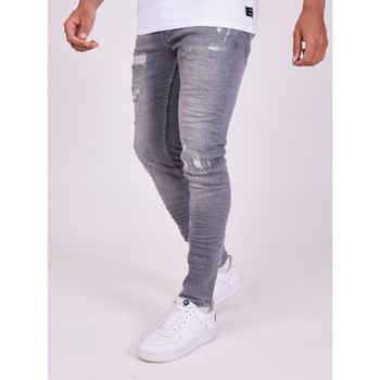 textil Herr Byxor Project X Paris Pantalon Jeans Slim effet usé gris foncé