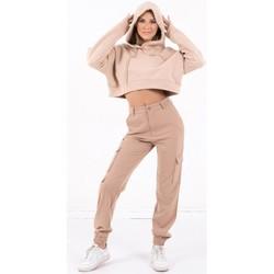 textil Dam Sweatshirts Sixth June Sweatshirt Crop Top femme  Acid Printed beige