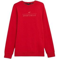 textil Herr Sweatshirts 4F BLM350 Röda