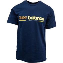 textil Linnen / Ärmlösa T-shirts New Balance Athletics Higher Learning Blå