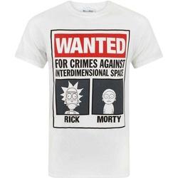 textil Herr T-shirts Rick And Morty  Vit