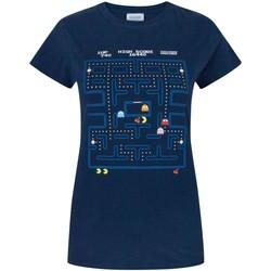 textil Dam T-shirts Pac Man  Blå