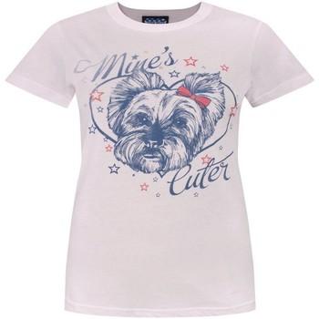 textil Dam T-shirts Junk Food  Ljusrosa