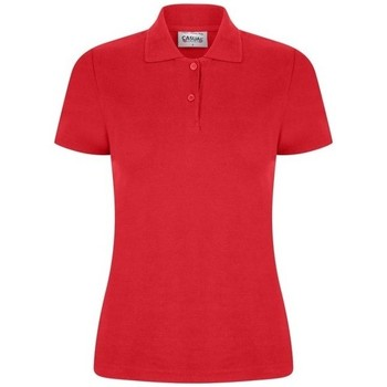 textil Dam Kortärmade pikétröjor Casual Classics  Röd