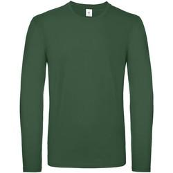 textil Herr Långärmade T-shirts B And C TU05T Flaskegrön