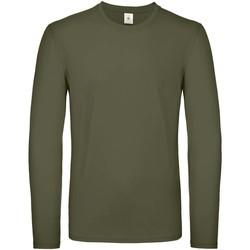 textil Herr Långärmade T-shirts B And C TU05T Urban Khaki