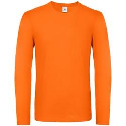 textil Herr Långärmade T-shirts B And C TU05T Orange