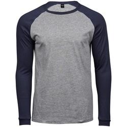 textil Herr Långärmade T-shirts Tee Jays T5072 Grått/grått/grått