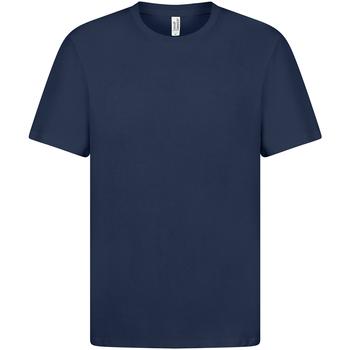 textil Dam T-shirts Casual Classics  Marinblått