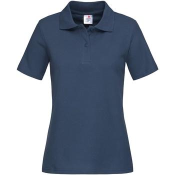 textil Dam T-shirts & Pikétröjor Stedman  Marinblått