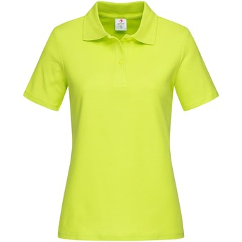textil Dam T-shirts & Pikétröjor Stedman  Ljus lime