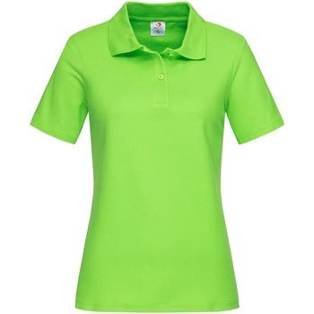 textil Dam T-shirts & Pikétröjor Stedman  Kiwi grönt