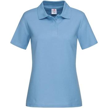 textil Dam T-shirts & Pikétröjor Stedman  Ljusblå
