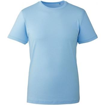 textil Herr T-shirts Anthem AM010 Ljusblå