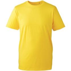 textil Herr T-shirts Anthem AM010 Gul