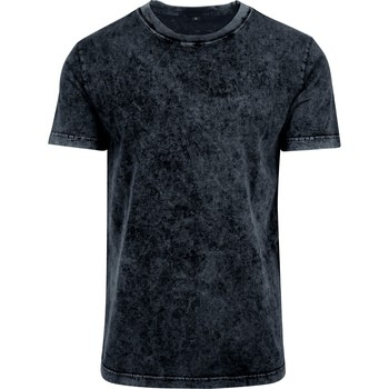 textil Herr T-shirts Build Your Brand BY070 Mörkgrå/vit