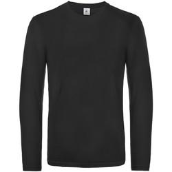 textil Herr Långärmade T-shirts B And C TU07T Svart