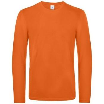 textil Herr Långärmade T-shirts B And C TU07T Urban Orange
